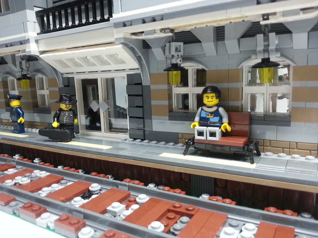 Lego Train Station Modular Style All About The Bricks