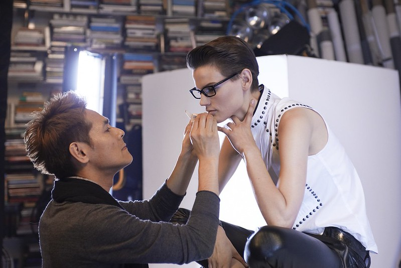 karl lagerfeld eyewear campaign making of