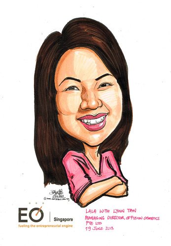 Lynn Tan caricature for EO Singapore