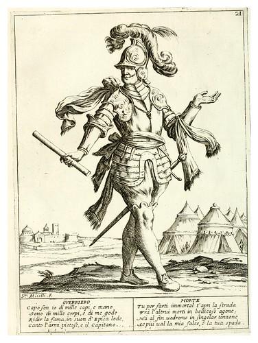 015- El guerrero- Le ventiqvattr' hore dell' hvmana felicità…-1675--Giuseppe M. Mitelli