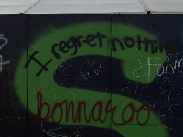 Bonnaroo 2013 - Wall graffiti