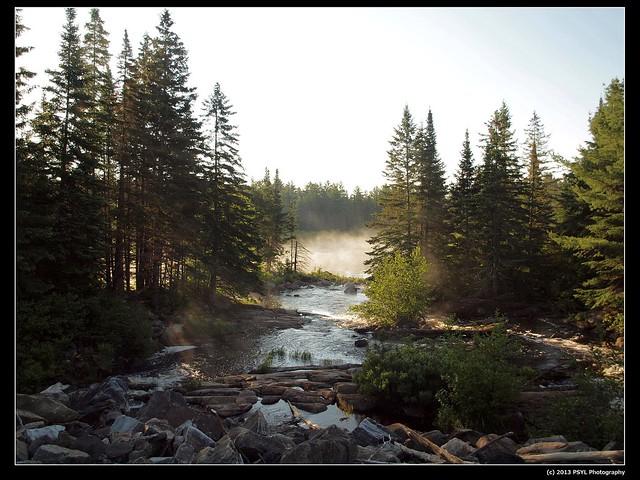 Misty morning on Lake Sasajewun