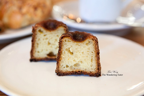 Cross section of the canelés