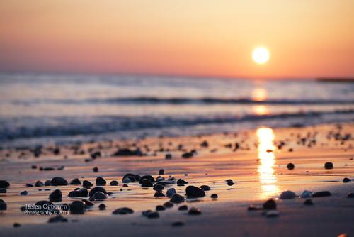 sunset summer beach coast brittany waves pebbles 52weeks penhors 282013