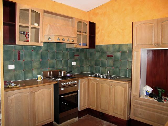 Kitchen Cabinet Cornice Oak