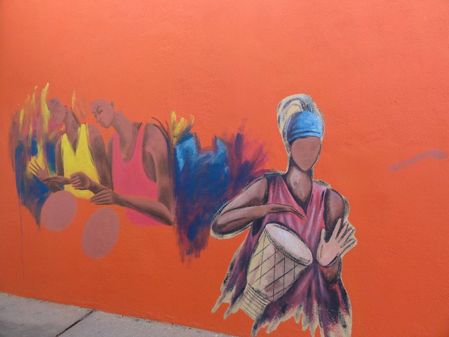 African Walls by Ibrahim Sesay, located at the Sheraton Gambia