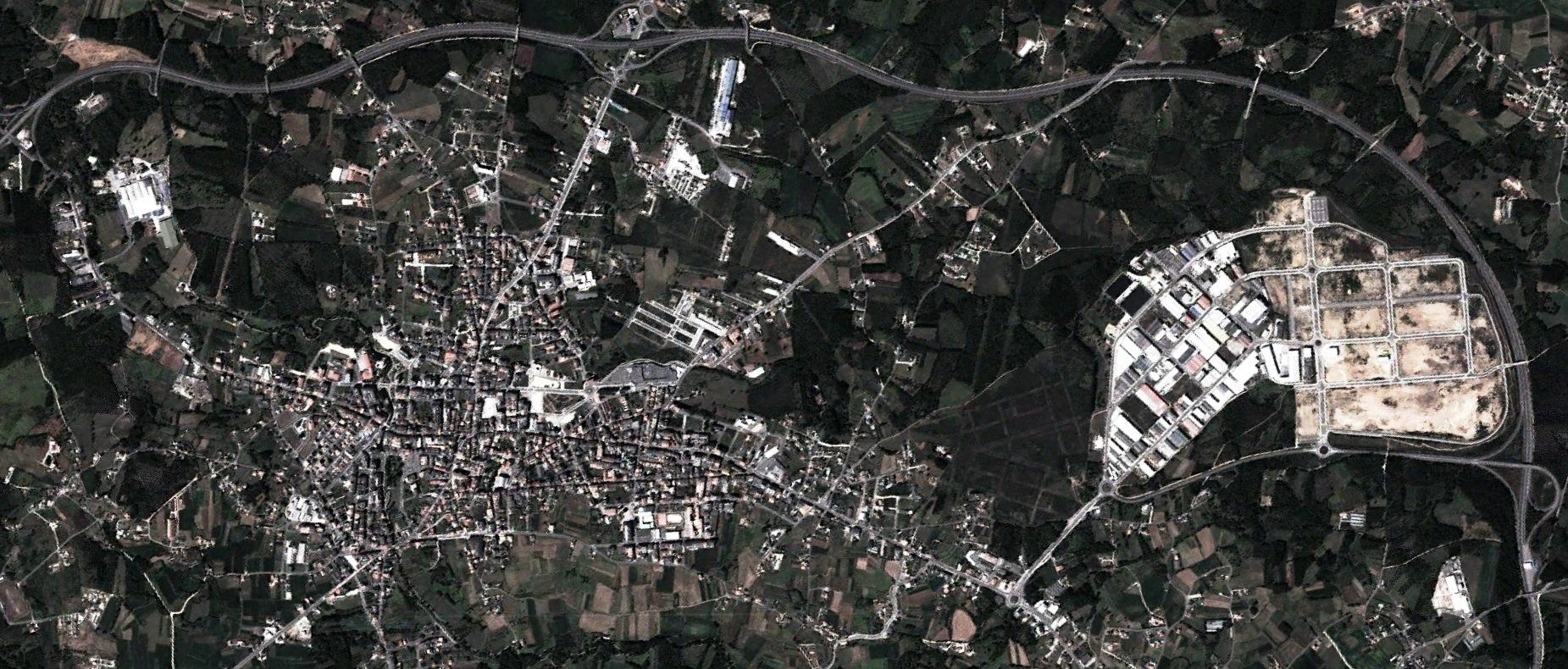 después, urbanismo, foto aérea,desastre, urbanístico, planeamiento, urbano, construcción, polígono industrial,Carballo, A Coruña