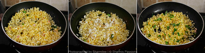 Sago Upma Recipe - Step3