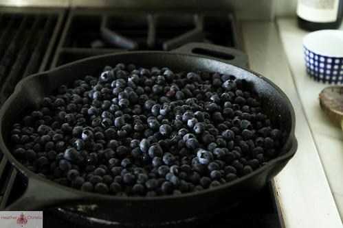 Blueberry Oatmeal Crisp with Bourbon Caramel