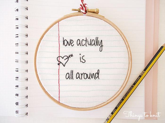 love actually is all around bordado