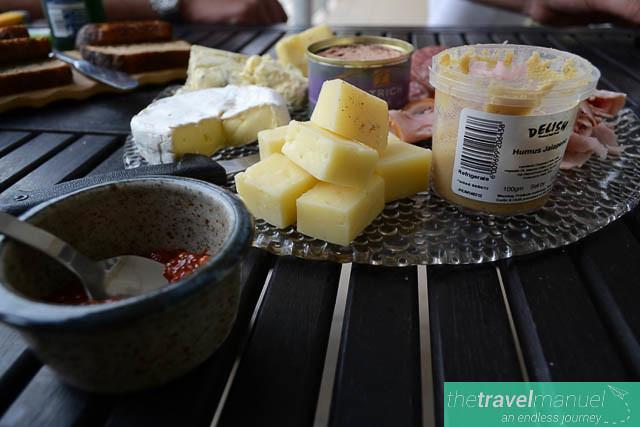 Mediterranean style platters.