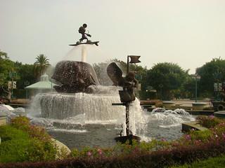 084 Fontein Disneyland Hong Kong