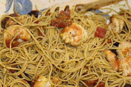 Grilled Shrimp Mediterranean with Pasta