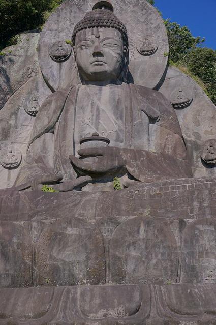 huge stone buddha