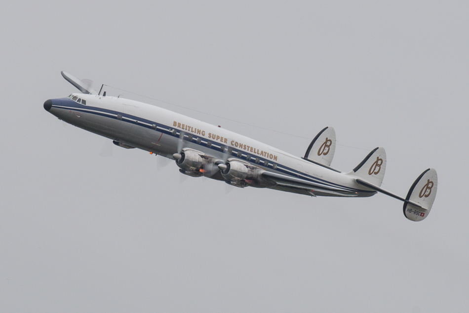 One of two flying 1955 Constellation airplanes