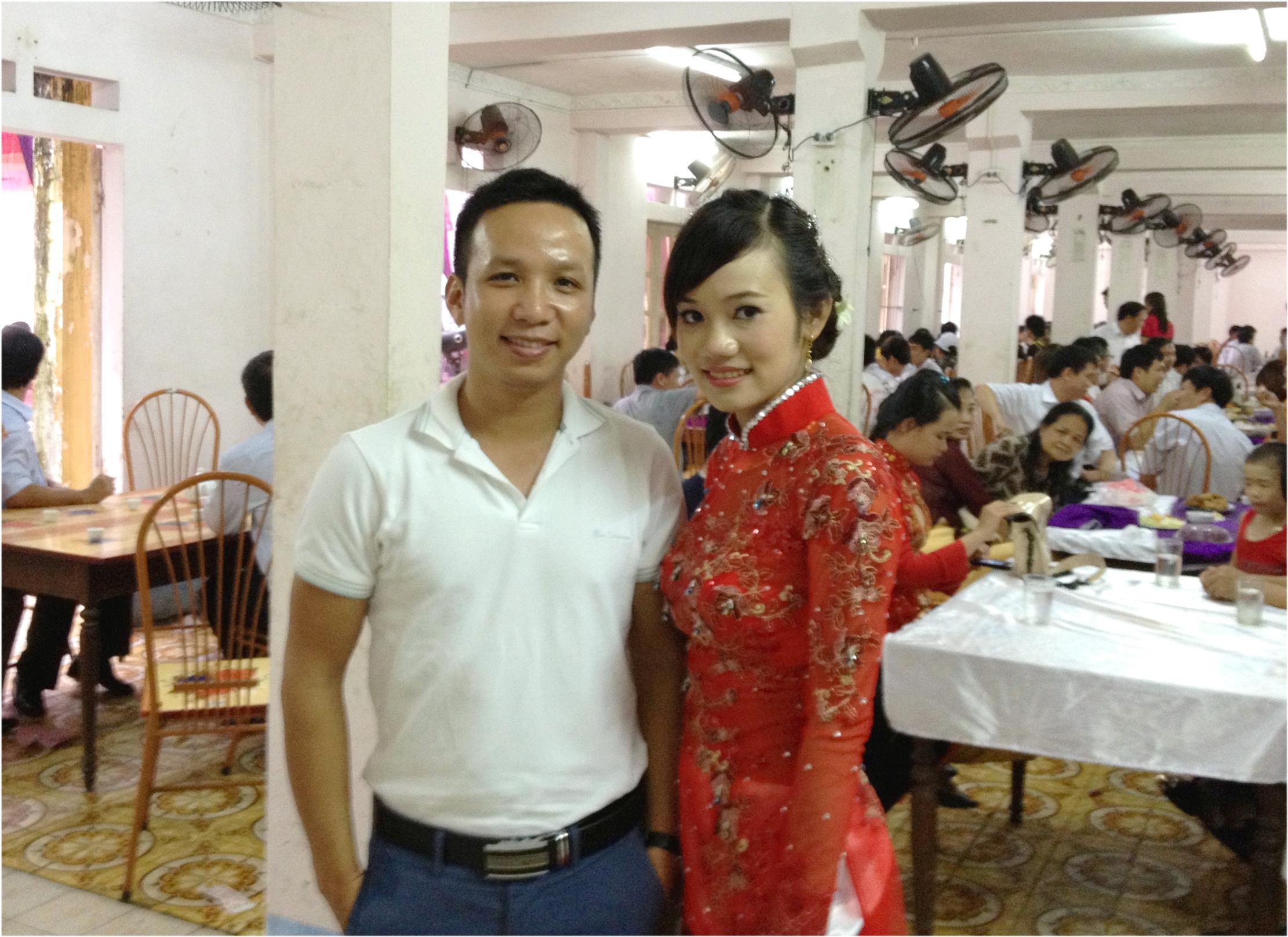 Ảnh chụp hôm đi đám cưới em Hòa ở Thái Nguyên.