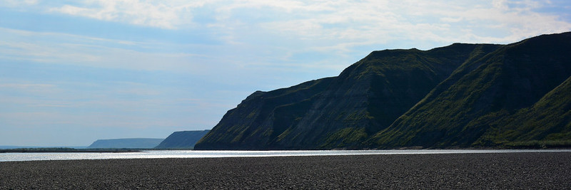 The Colville River bluffs, North Slope, Alaska