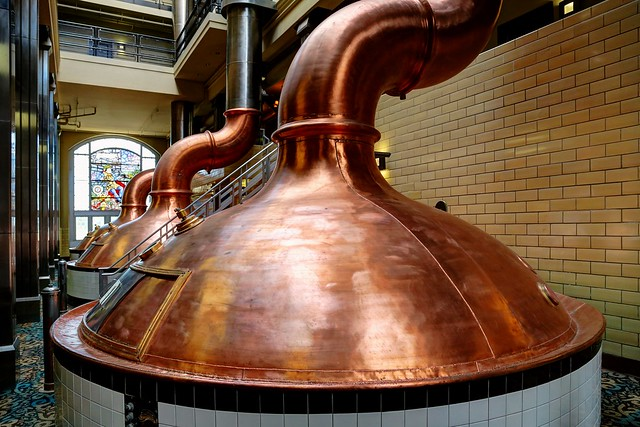 Brewhouse Inn & Suites copper brew kettles