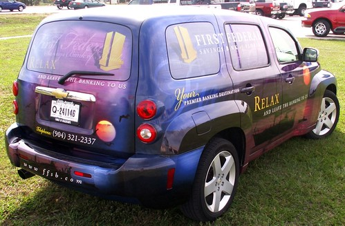 Chevrolet car wrap in Orlando