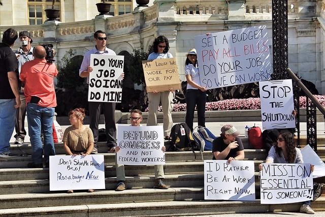 'Non Essentials' Demo Outside The Capitol Building DC