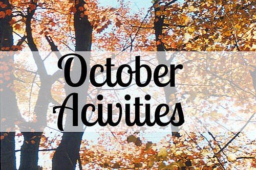 October Activities List