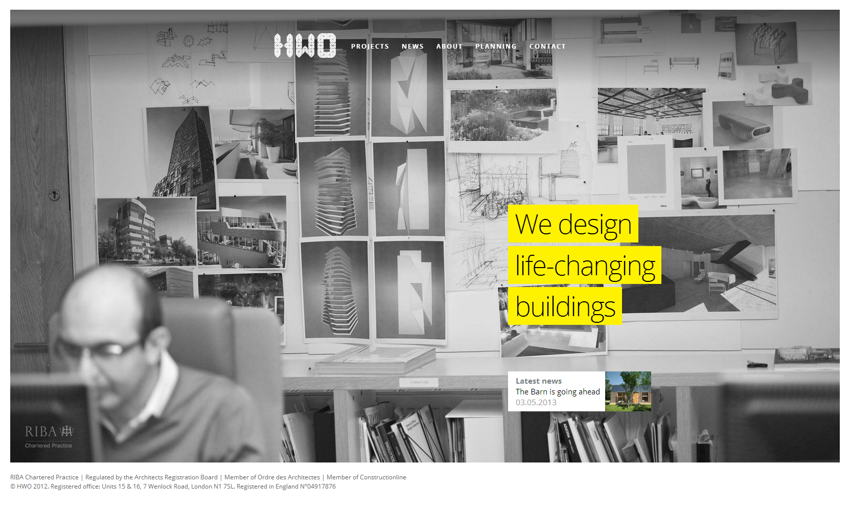 Hwo Architects - Clean Architecture Website For Your Inspiration