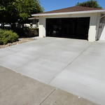 Broom Finish Concrete Driveway Vacaville