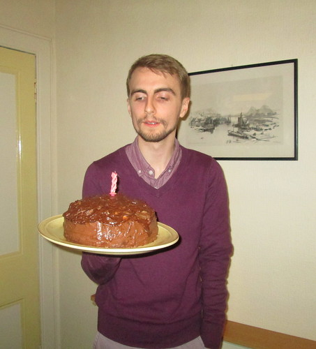 cake + Birthday boy