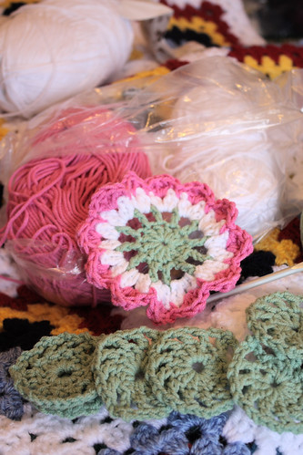 Crochet table centre piece
