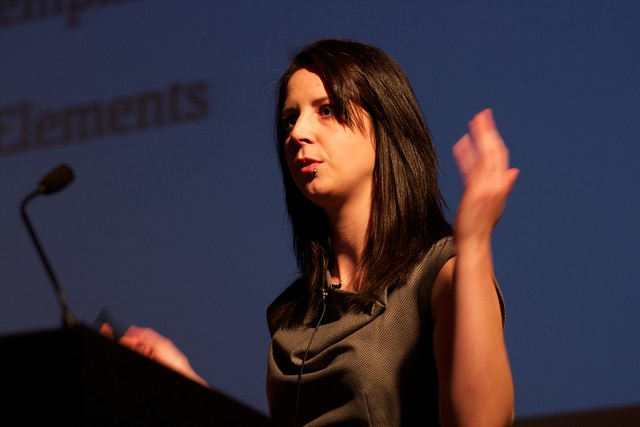 Angelina Fabbro, speaking at Full Frontal 2013