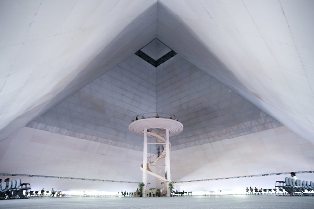 Meditation Pyramid, inside