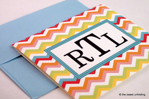 Monogrammed-Chevron-Note-Card
