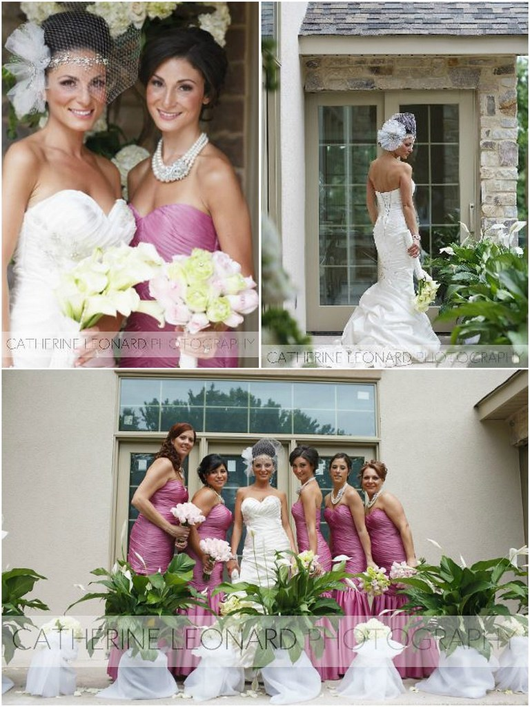 Angela & Walter, custom headpiece and cage veil - Bridal Styles Boutique, photography - Catharine Leonard