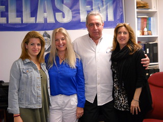Inga, Vassula, Manolis and Georgia at Hellas FM