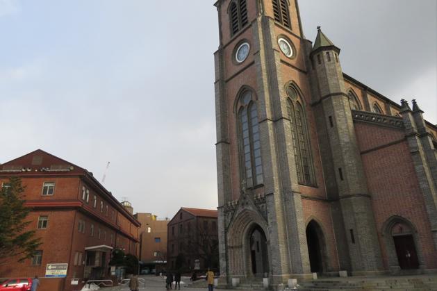 歐式建築的明洞聖堂