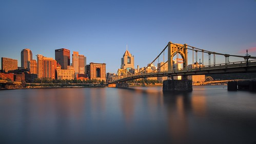 city bridge sunset skyline river downtown pittsburgh pennsylvania gates pa roberto draw kl steelers clemente pnc sigma1020mm alleghenylanding pentaxk5 briankoprowski bkoprowski