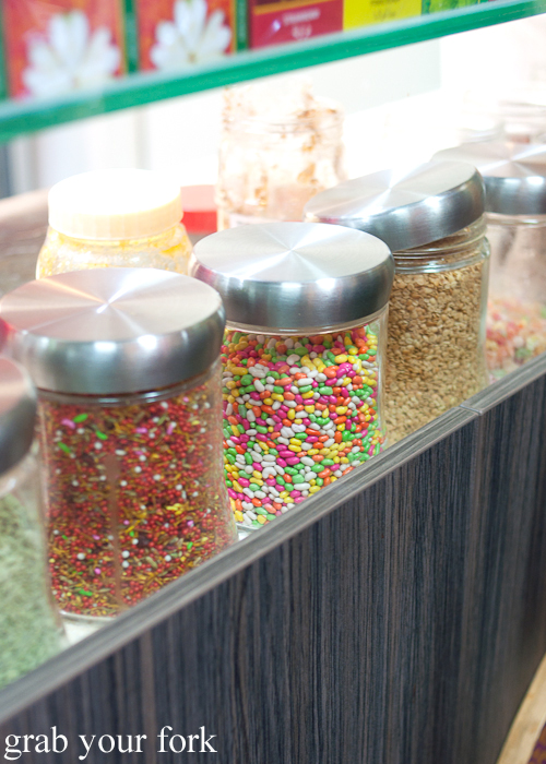 Paan ingredients at Durga Paan and Falooda House Harris Park