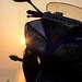 Bike and sun by arjunvanil