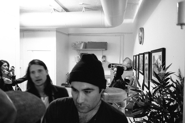 Ellington & Ben Nordberg sighting, Dylan Rieder is in there behind the beanie.