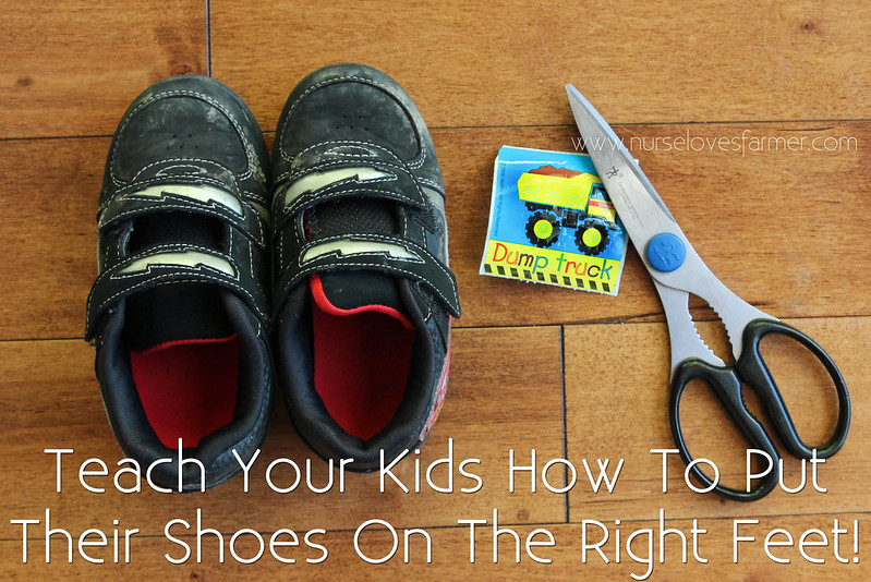 Teach Your Kids How to Put the Right Shoe on the Right Foot!