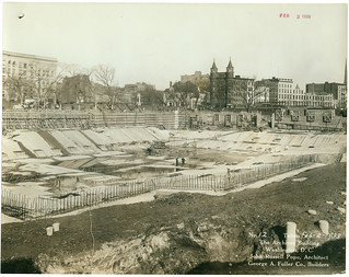 Photograph of the National Archives Building Being Constructed, 02/02/1933