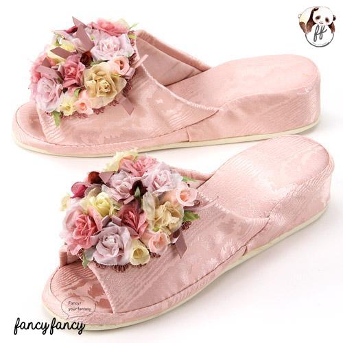 54.漫步花園低跟拖鞋-粉紅色