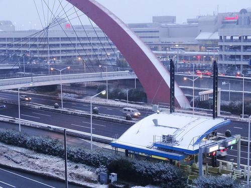2014年2月8日早朝の羽田空港