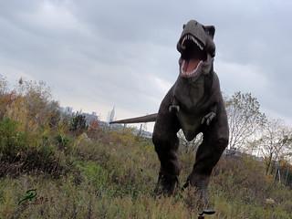 life-size dinosaur