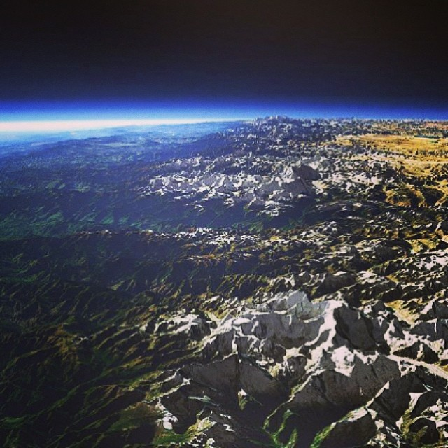 The Himalayas from space #randomphoto #himalayas #space # ...