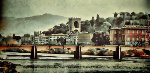 panorama water florence tuscany arnoriver hss