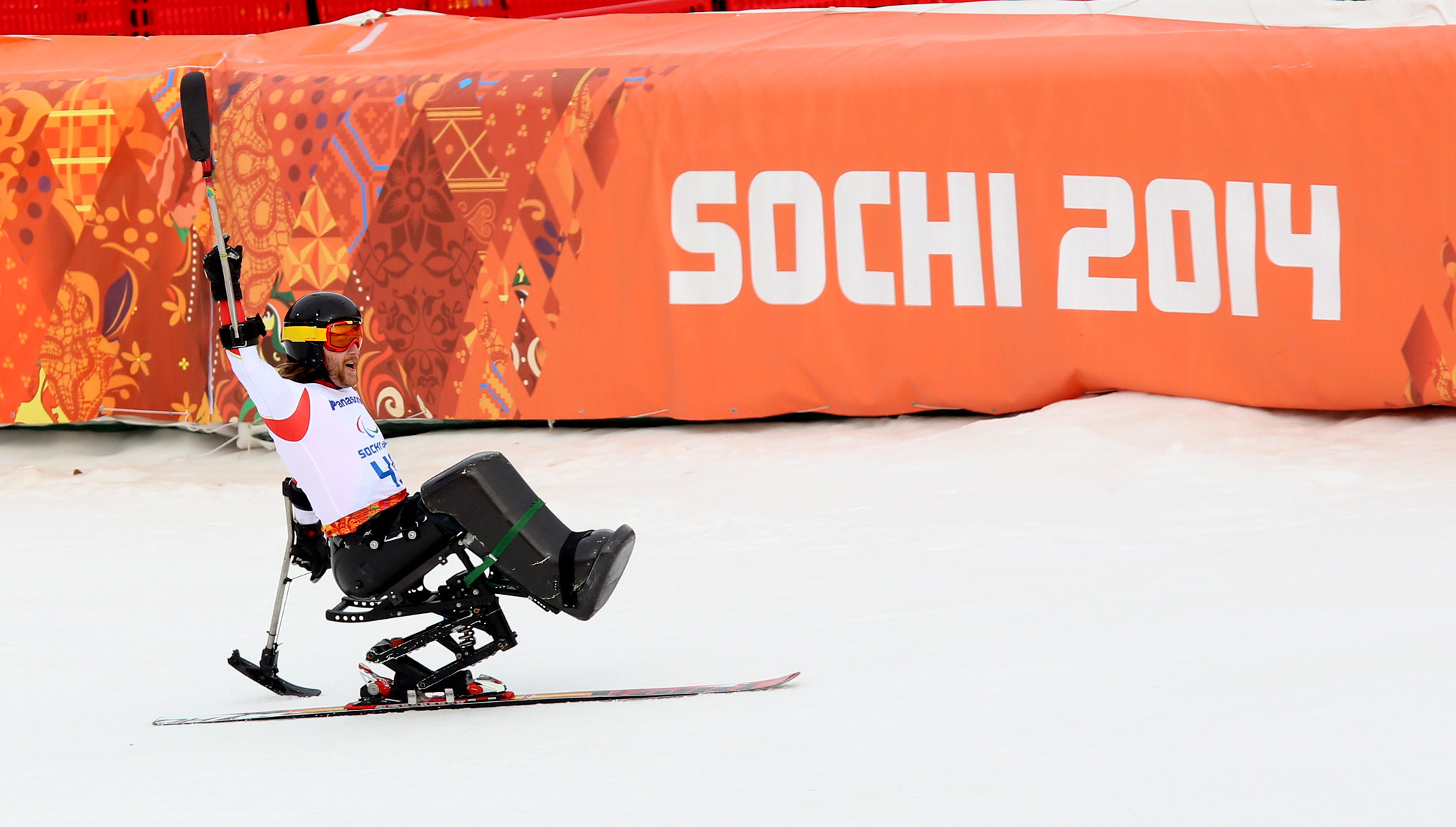 Caleb Brousseau at the Paralympic Winter Games in Sochi, RUS