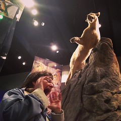 At the NC Museum of Natural Sciences. Things are getting intense.