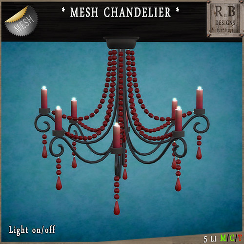 PROMO 60L ! *RnB* Mesh Chandelier - Black-Red Victoria (copy)