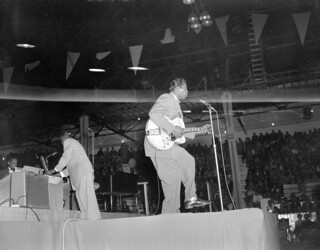 Chuck Berry performing at the Edmonton Gardens, Alberta